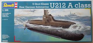 revell german submarine 212 box