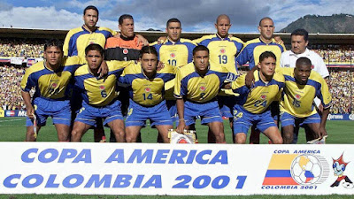 Winners alright! The 2001 Colombian side that won the Copa América on home soil ...