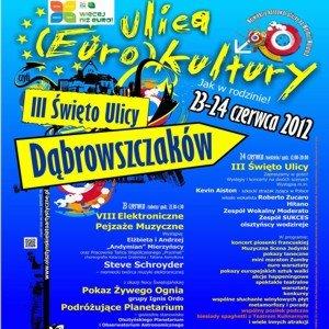 plakat promujacy swieto ulicy dabrowszczakow 2012