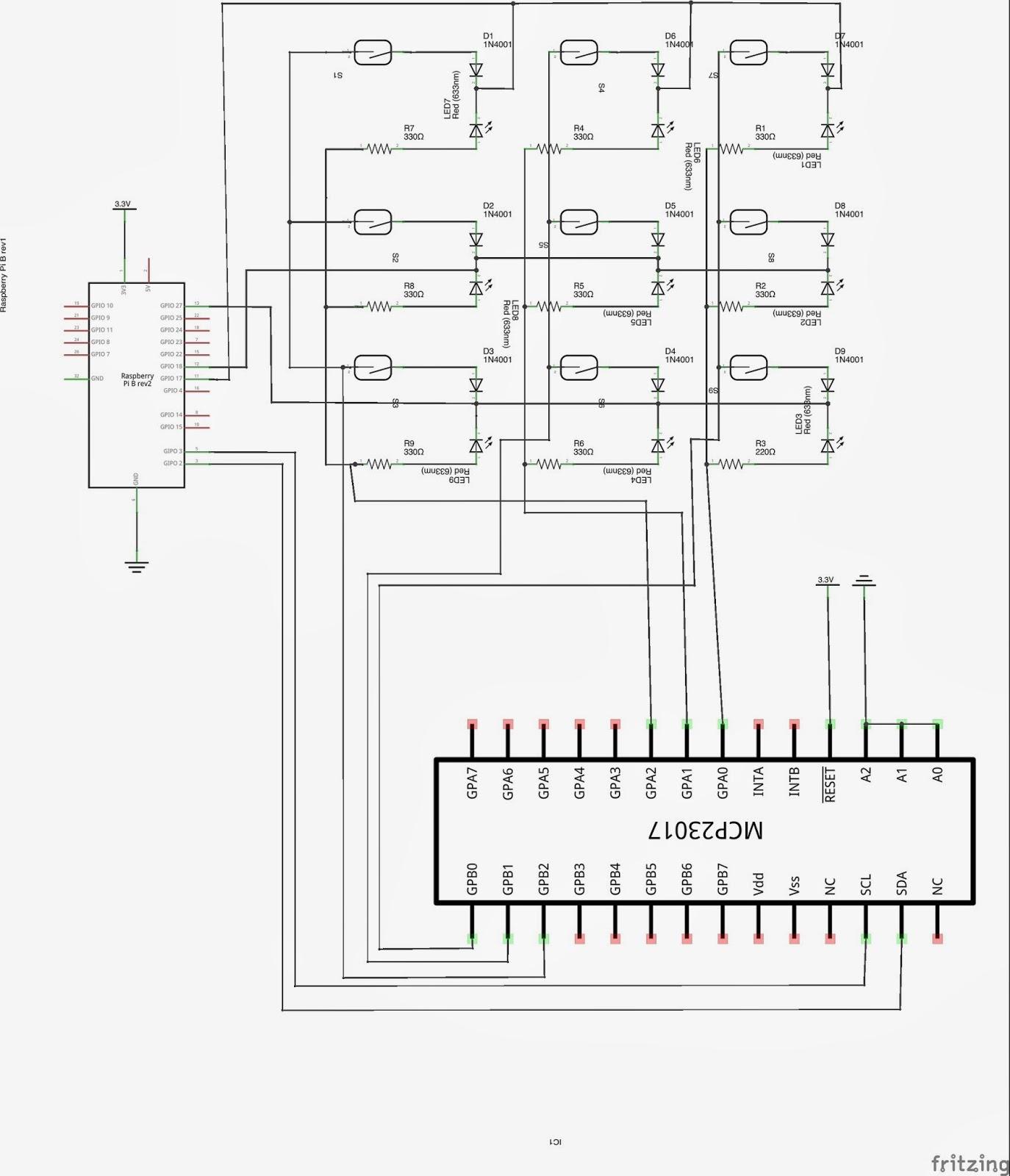 Just Another Day Pi Chess Wiringpi2 Python I2c The Development Matrix Circuit Diagram