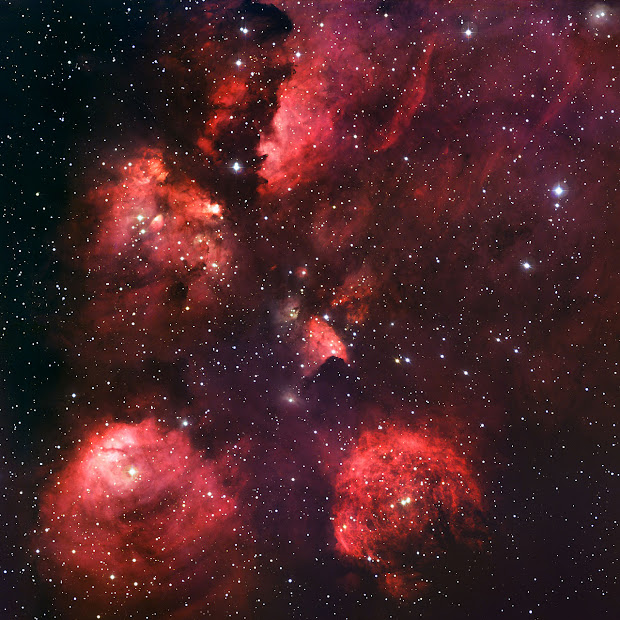 The Cat's Paw Nebula by ESO's MPG/ESO 2.2-meter telescope