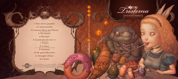 Felideus Bubastis Illustrations - Artwork for italian band Tristema