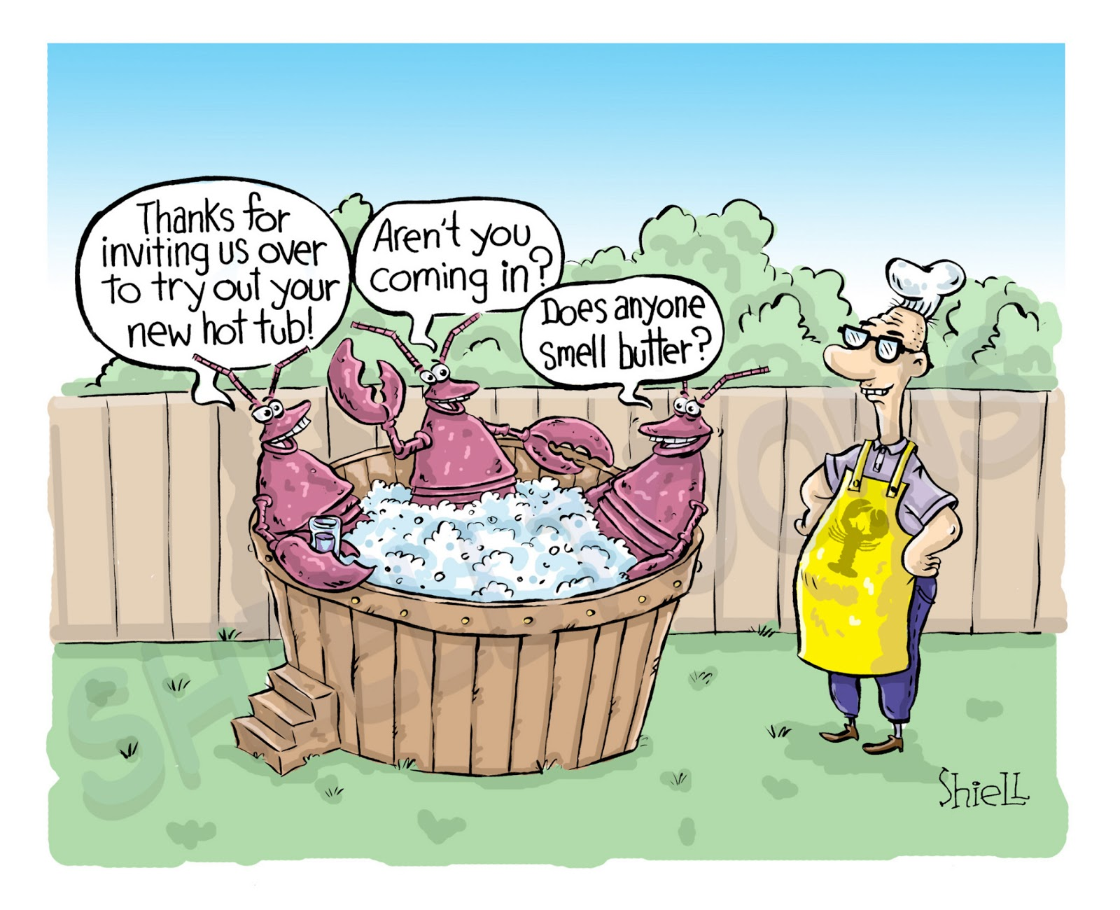 CARTOON of the Week by Mike Shiell: lobster hot tub .......... apr. 30, 2012