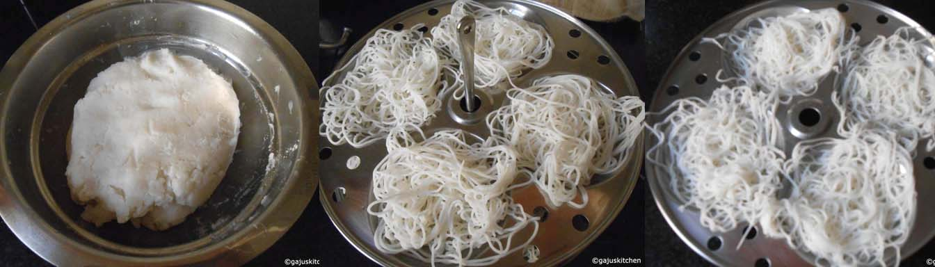 idiyappam dough and preparation