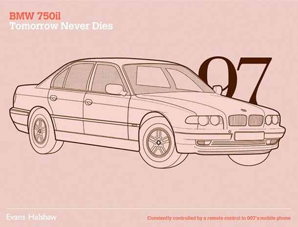 Carros James Bond - 007 - BMW 750il - Tomorrow Never Dies