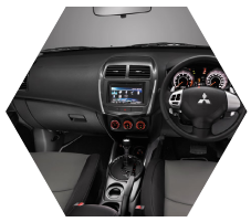 New Features in Interior Mitsubishi Outlander Sport Pekanbaru Riau