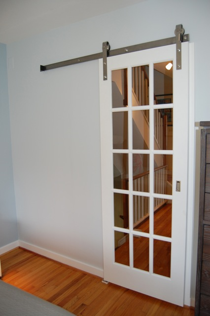 small space solution sliding barn door