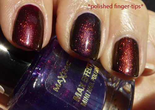 Chanel Malice, OPI Every Month Is Oktoberfest, OPI Germanicure - layered with Fantasy Fire - sunlight
