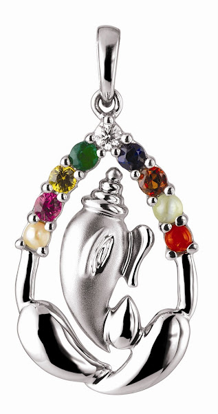 Lord Vinayaka Deity Pendants in Platinum