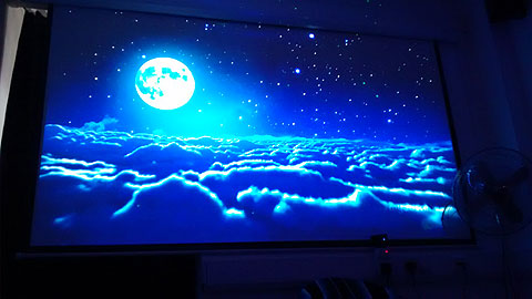 Floating over clouds in a multi-sensory room.