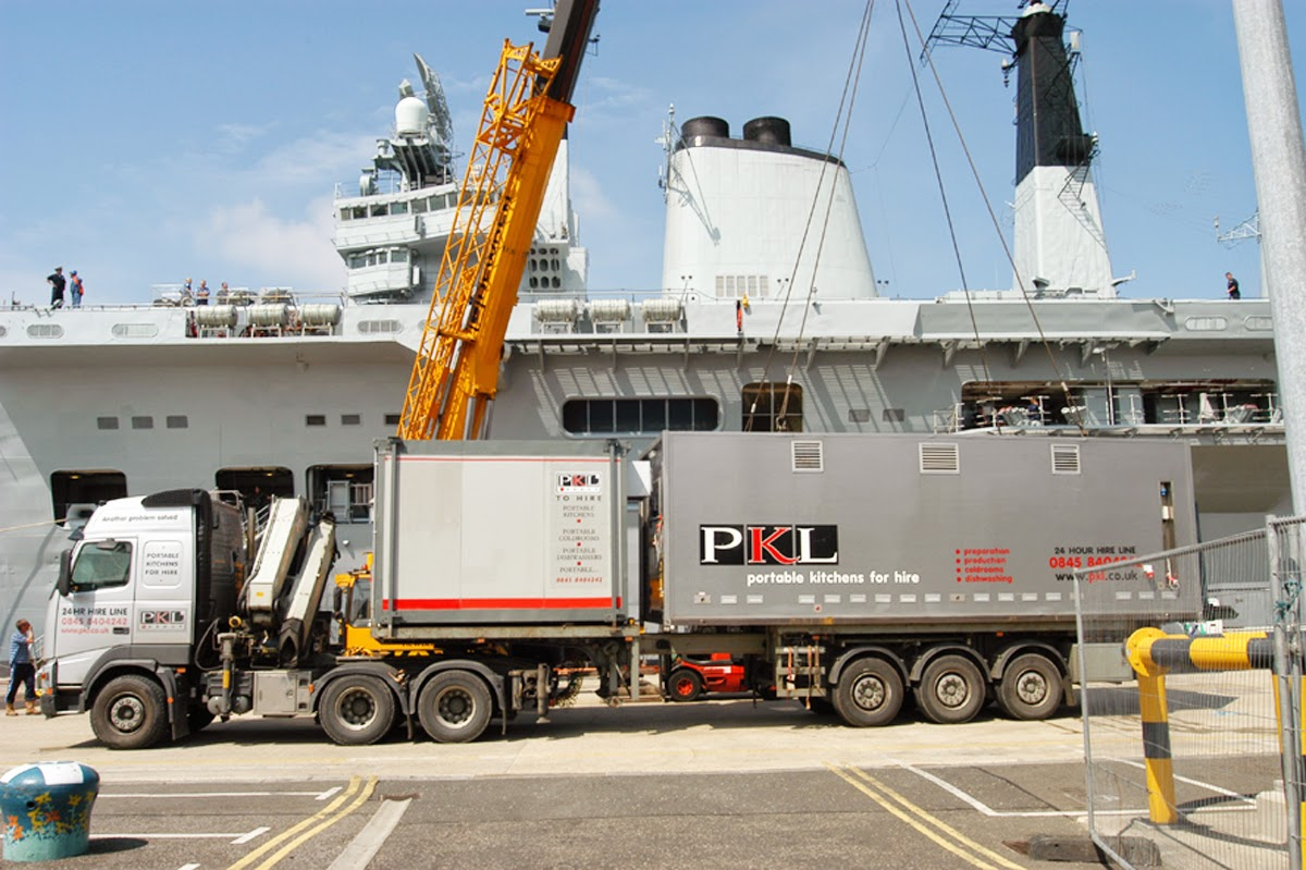 PKL portable kitchens at a dockyard