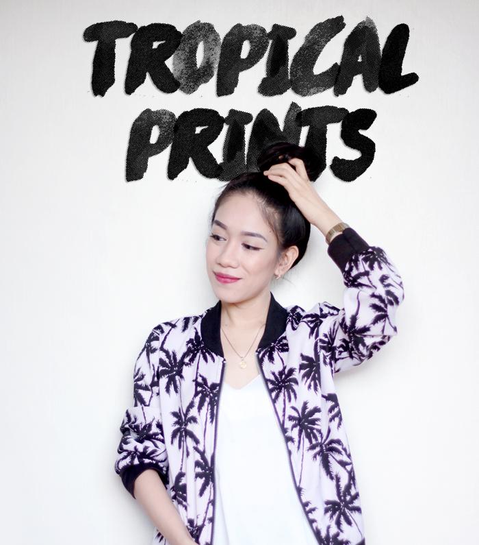 Tropical Jacket, Bomber Jacket, Ripples by Jenny