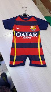 Jumper bayi Barcelona home terbaru musim 2015/2016 di enkosa sport toko online jersey bola terpercaya
