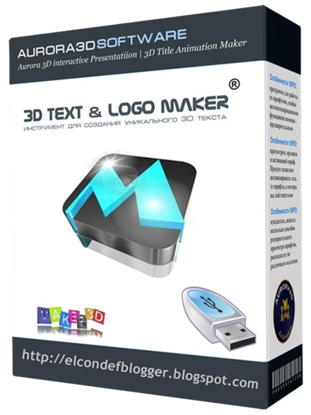 Aurora 3D Text  ...Y Logo 3d