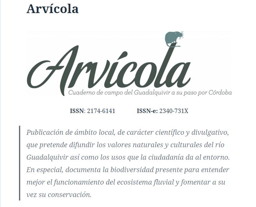 Arvícola. Revista de la Asociación de Educación Ambiental El Bosque Animado
