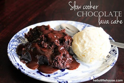 Slow Cooker Chocolate Lava Cake from Hello Little House [found on SlowCookerFromScratch.com]