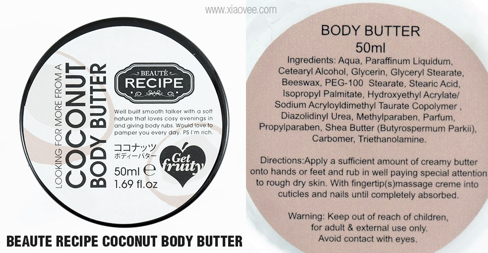 Xiao vee indonesian beauty blogger beaute recipe fruit for Body butter labels