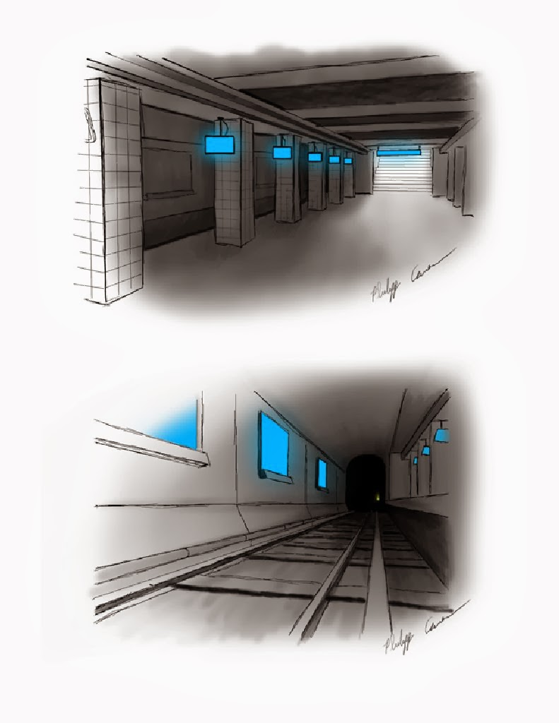 Concept art of future subway environment