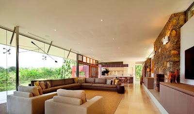 hermosa sala moderna y elegante