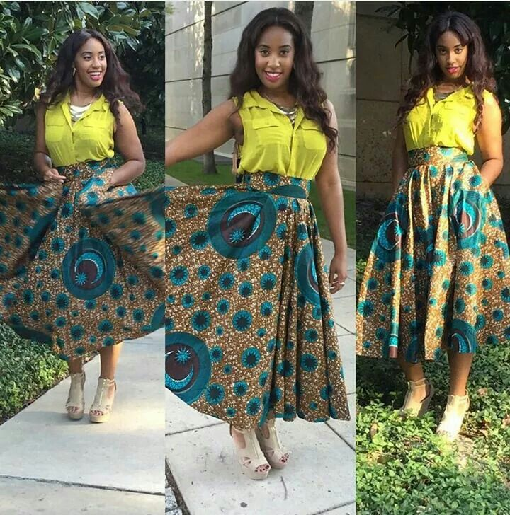 Beautiful Ankara Skirt For African Woman - Debonke House ... Pictures Of African Skirts And Blouses