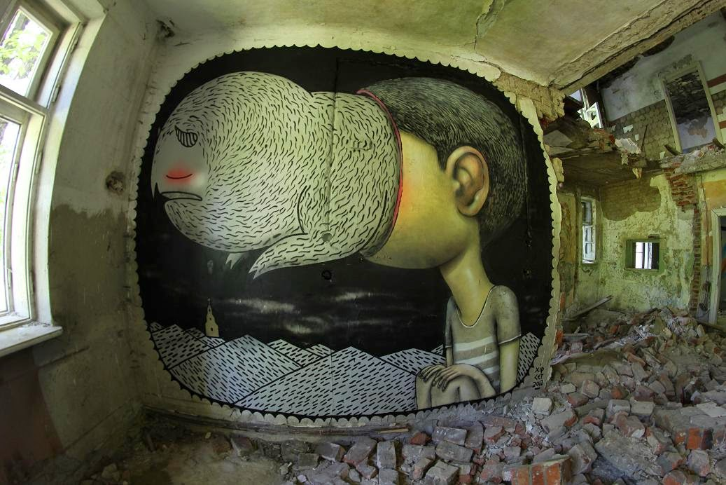 Art\Street art - Andrej Hir paintings (25 pictures)