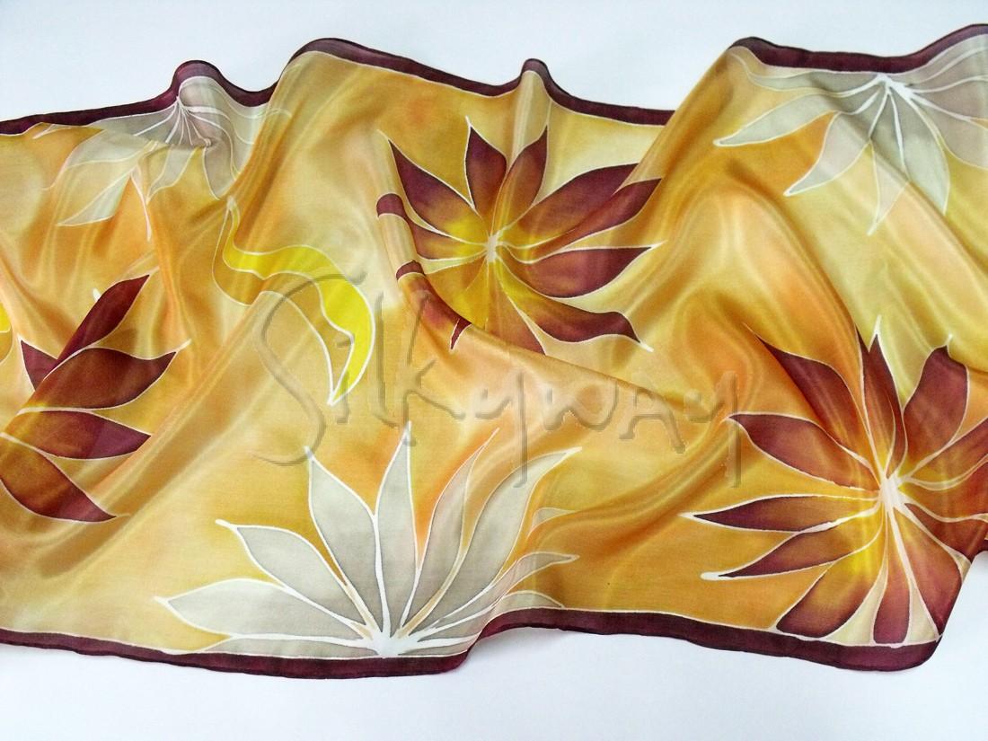 Karácsonyi ajándék ötletünk nőknek - trópusi virágos sálak