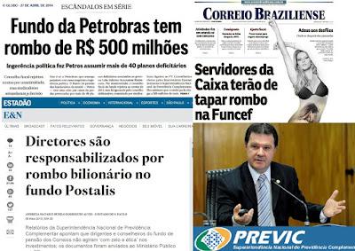 """HORA DE """"LAVAR À JATO"""" OS FUNDOS DE PENSÃO ESTATAIS E A PREVIC GL270414Capa1A1"""