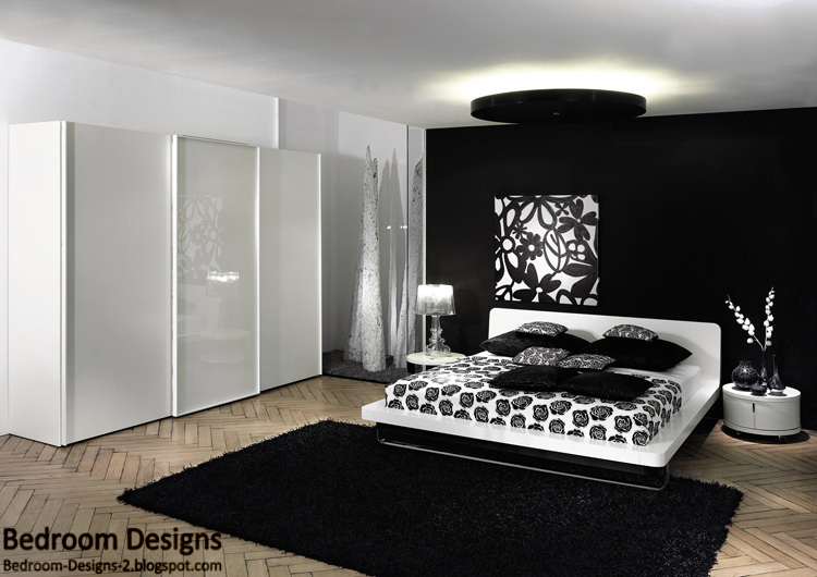 5 black and white bedroom designs ideas. Black Bedroom Furniture Sets. Home Design Ideas