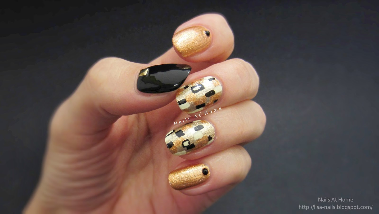 Gustav Klimt Inspired Nails