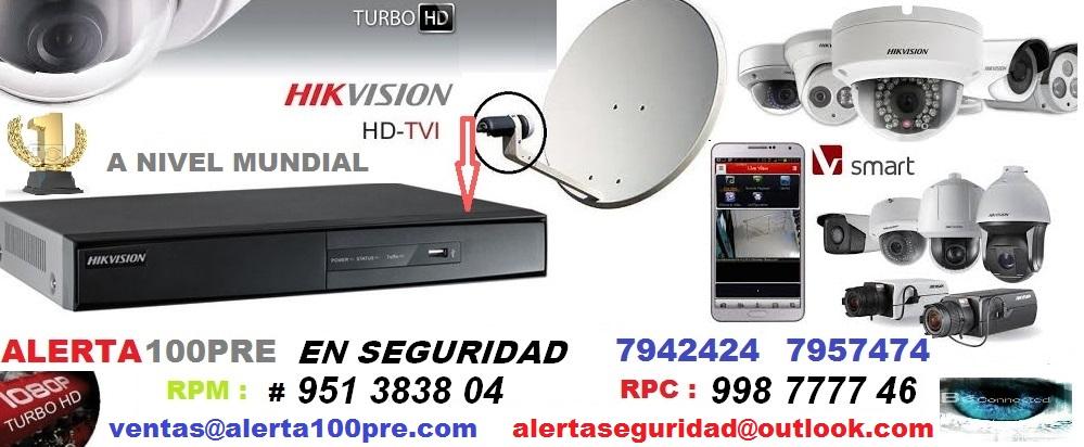 HIKVISION PERU ALERTA100PRE: SEGURIDAD Y TRANQUILIDAD