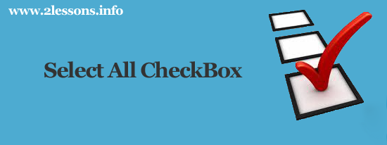 select all checkbox