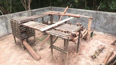 Enrichment in progress in small enclosure