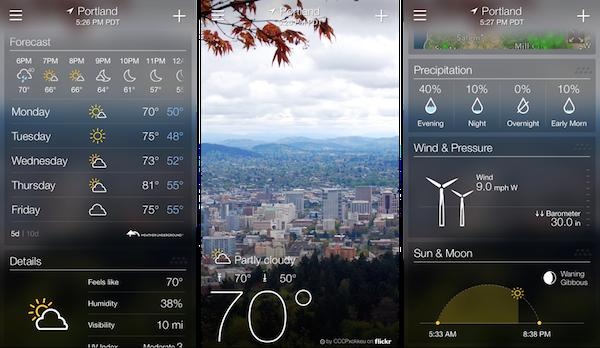 Weather Pod iphone app