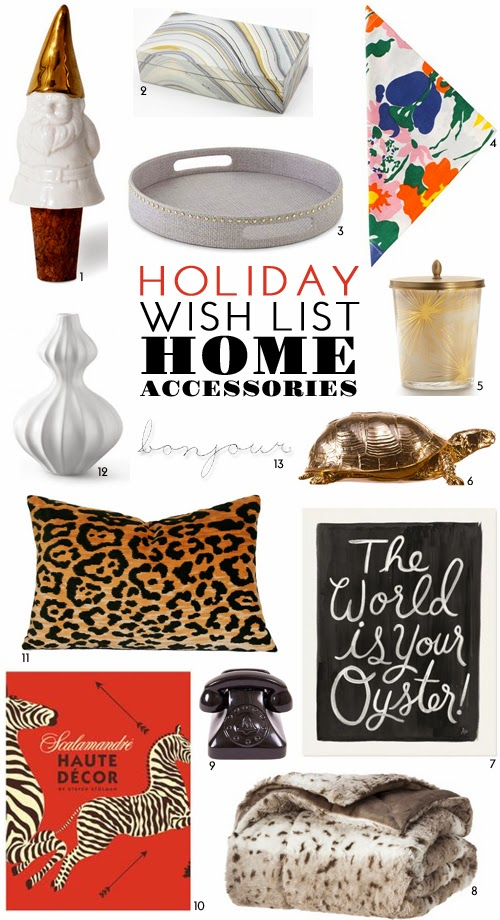 Proper hunt holiday wish list home accessories for Home wish list