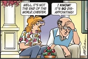 Doonesbury: The end of the world, Not.