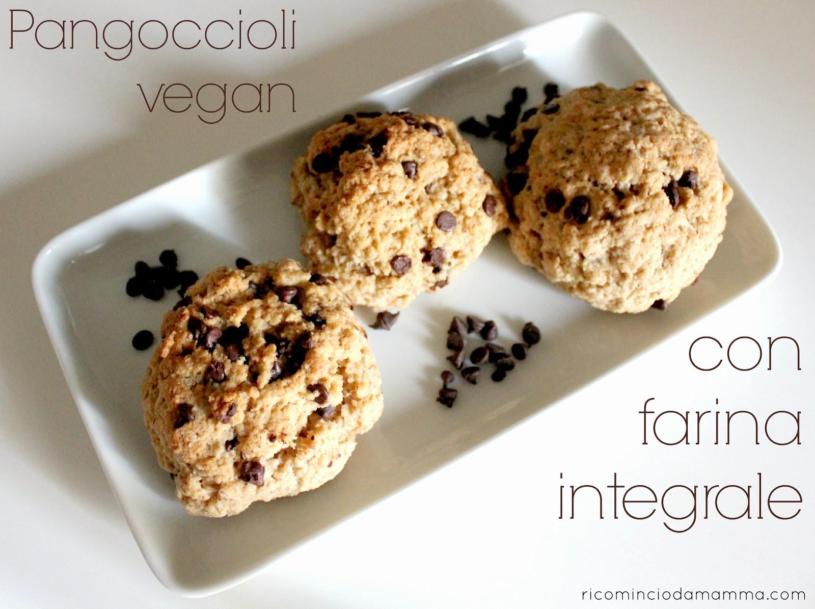 pangoccioli vegan con farina integrale