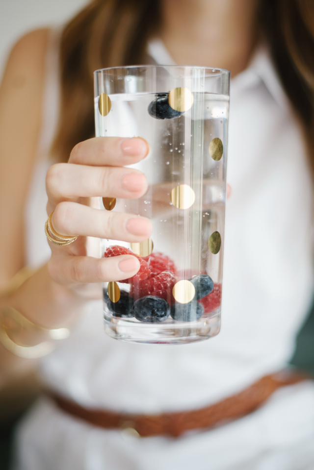 drink more water by adding fruit to flavor it M Loves M @marmar