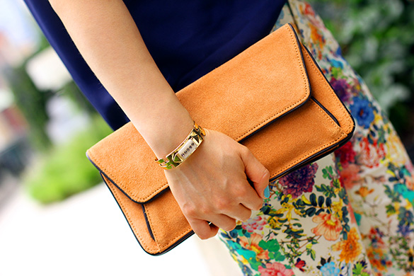 FCUK Brown Suede Clutch