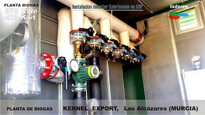 Colector calefacción calorifugado en CHP planta de biogas kernel 500kw