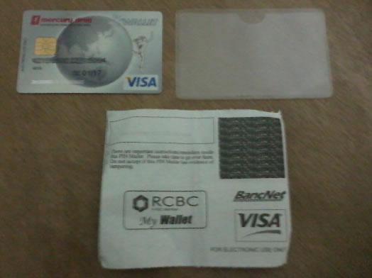 Mercury Drug MyWallet Visa Card, Card Protector and Pin Slip