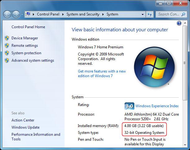Khắc phục trường hợp khiến Windows không nhận đủ RAM 2