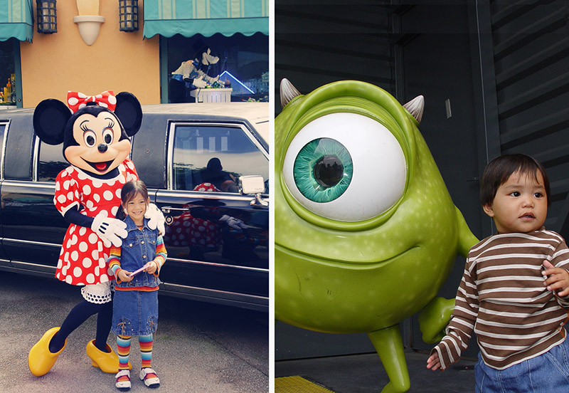minnie mouse, mike wazowski
