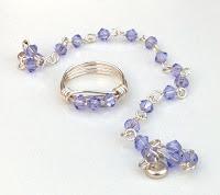 Swarovski Crystal Provence Lavender Bracelet Ring Set