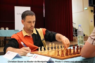Le GMI Christian Bauer (2649), 2e Elo du tournoi a maté Eric Prié lors de la ronde 5 du Master de Montpellier 2014 - Photo © Chess & Strategy