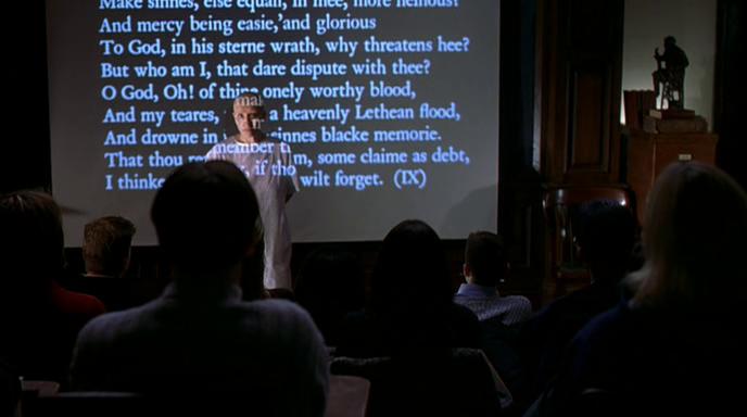 Wit film 2001 lecture memory scene screenshot