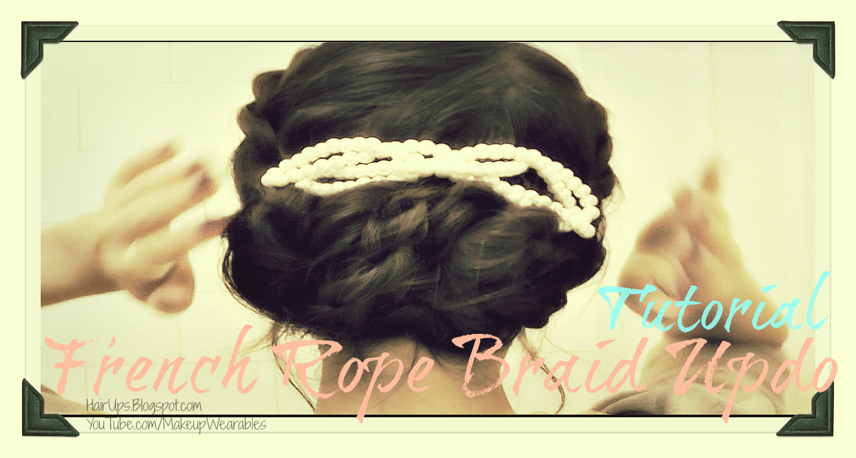 rope+2 HOLIDAY HAIRSTYLES HAIR TUTORIAL | HOW TO FRENCH ROPE BRAID TWIST FOR MEDIUM LONG HAIR