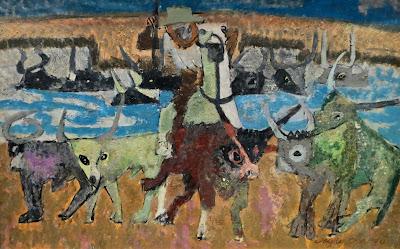 Яков Шапиро, Кипр. Сцена с волами, 1960-е