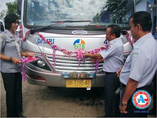 Tingkatkan Kualitas Transportasi di BIL, Dishubkominfo Luncurkan 10 unit Damri