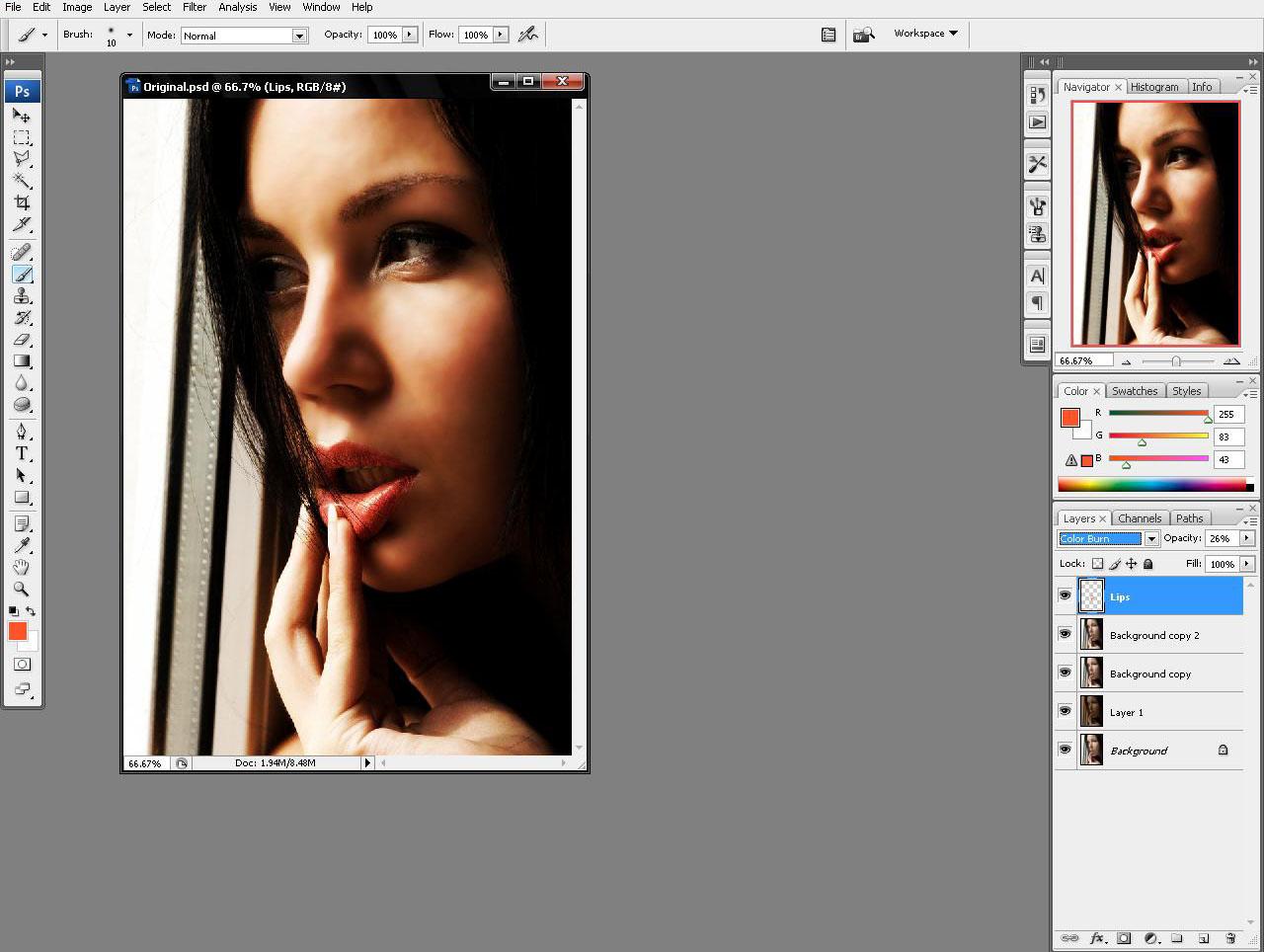 Color burn в фотошопе