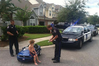 funny photo child gets penalty by the police